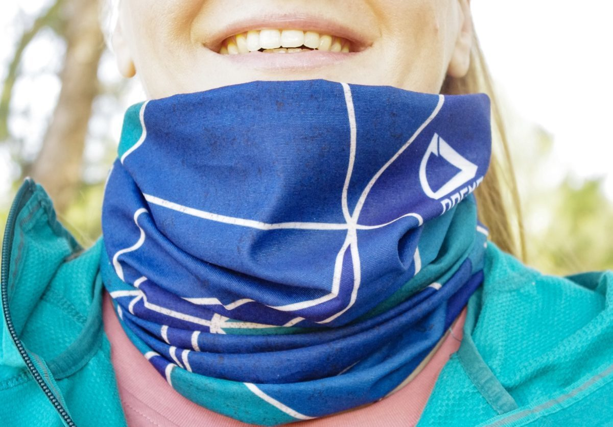 Bandana for outdoor activities worn around the neck