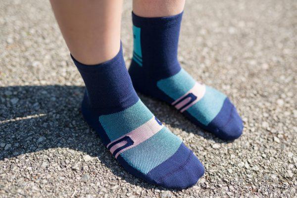 dogma bike socks shifter blue woman