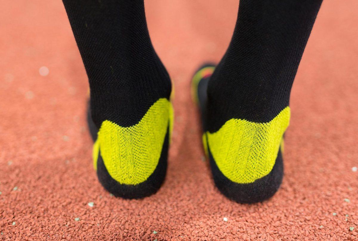dogmasocks run the gazelle black v stripe ankle design