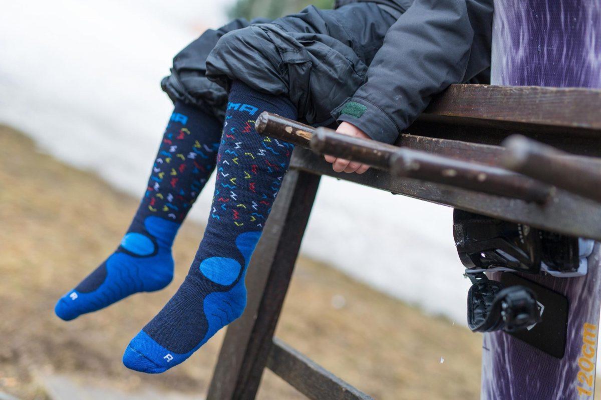 Dogma snow fox junior worms design in blue