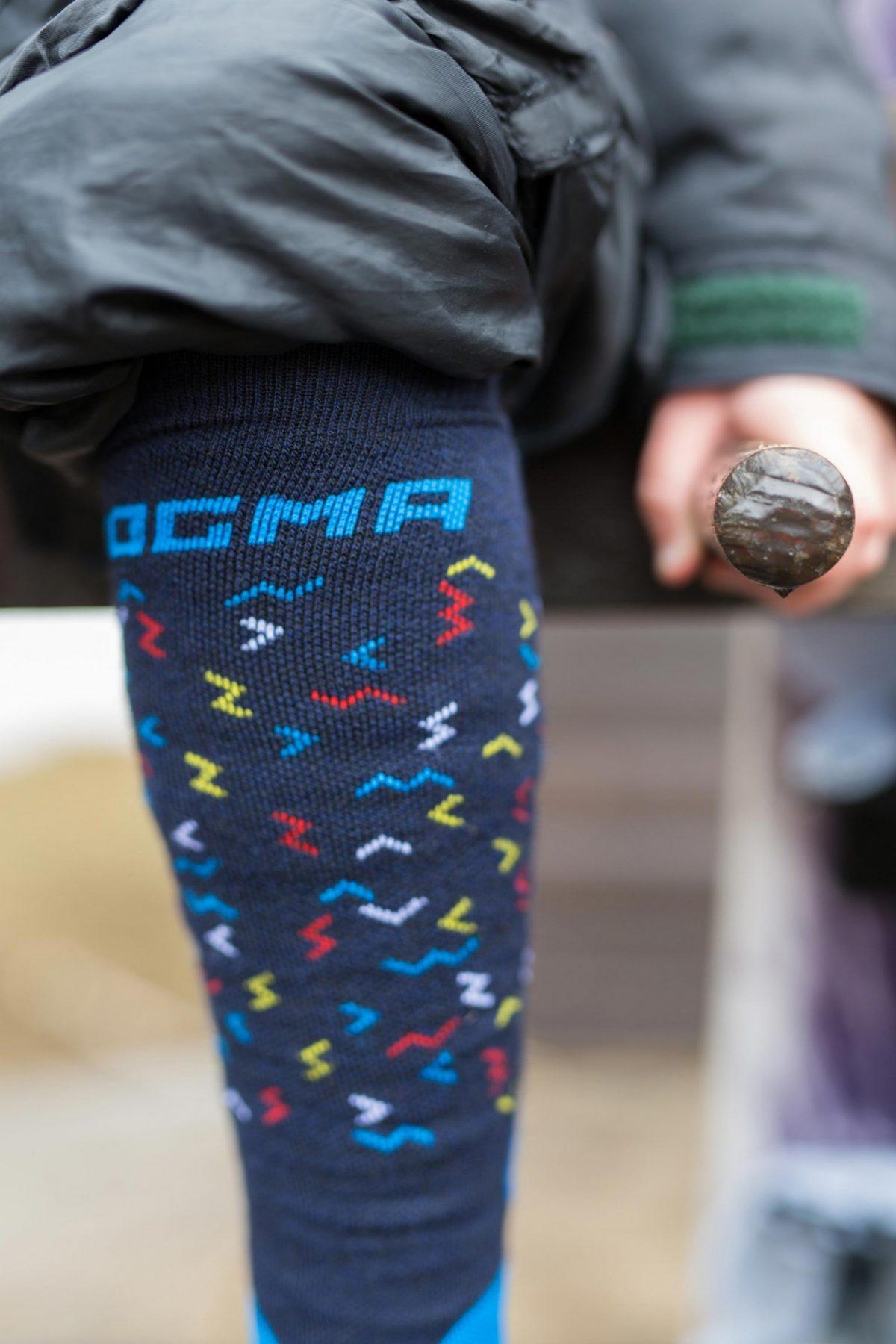 Dogma snow fox junior worms blue socks for boys
