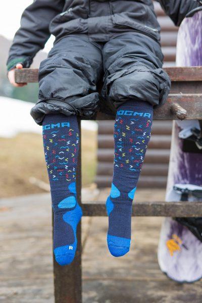 Dogma snow fox junior worms blue for boys