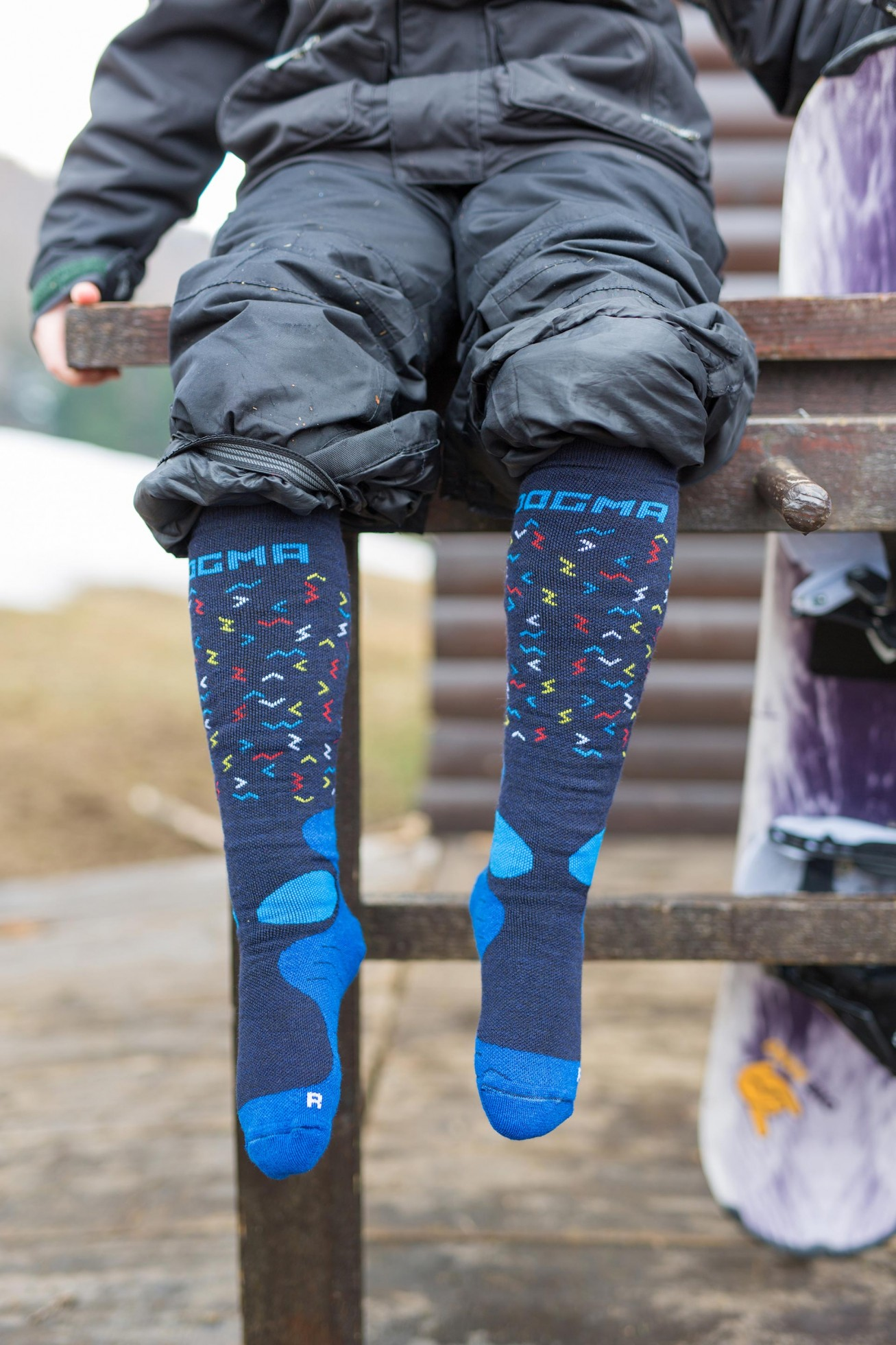 Snow Fox Junior Worms Blue Dogma Socks Extreme Design For Your