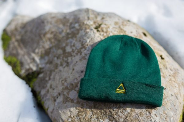 This is a picture of Dogma winter beanie in green color