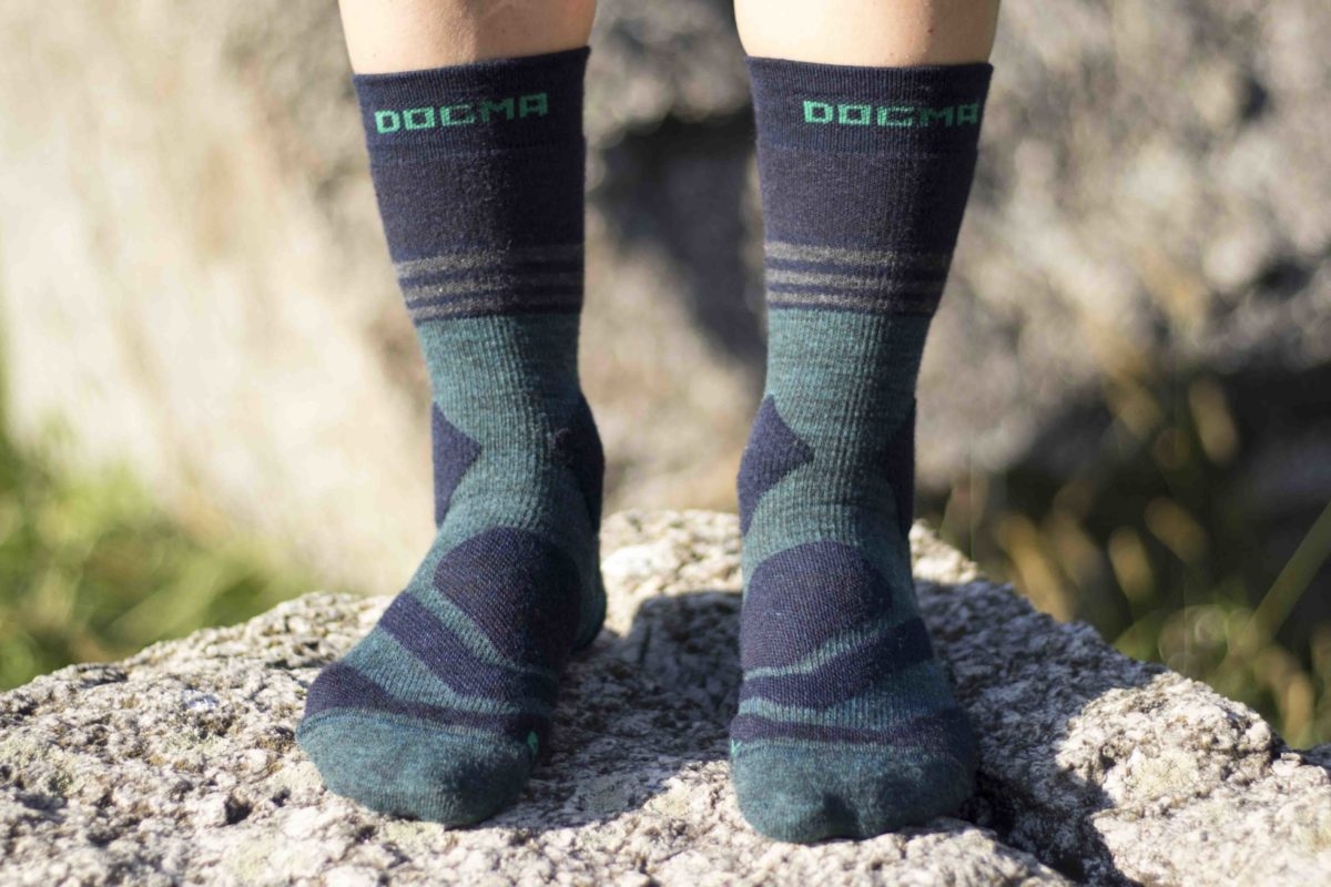 hiking socks with stripes