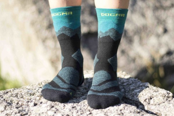 hiking socks with teal