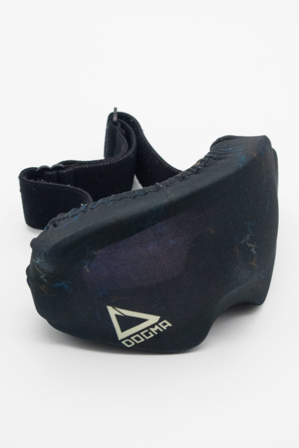 dogma goggle cover in black marble pattern