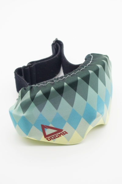 goggle protection in tile pattern with green and grey color