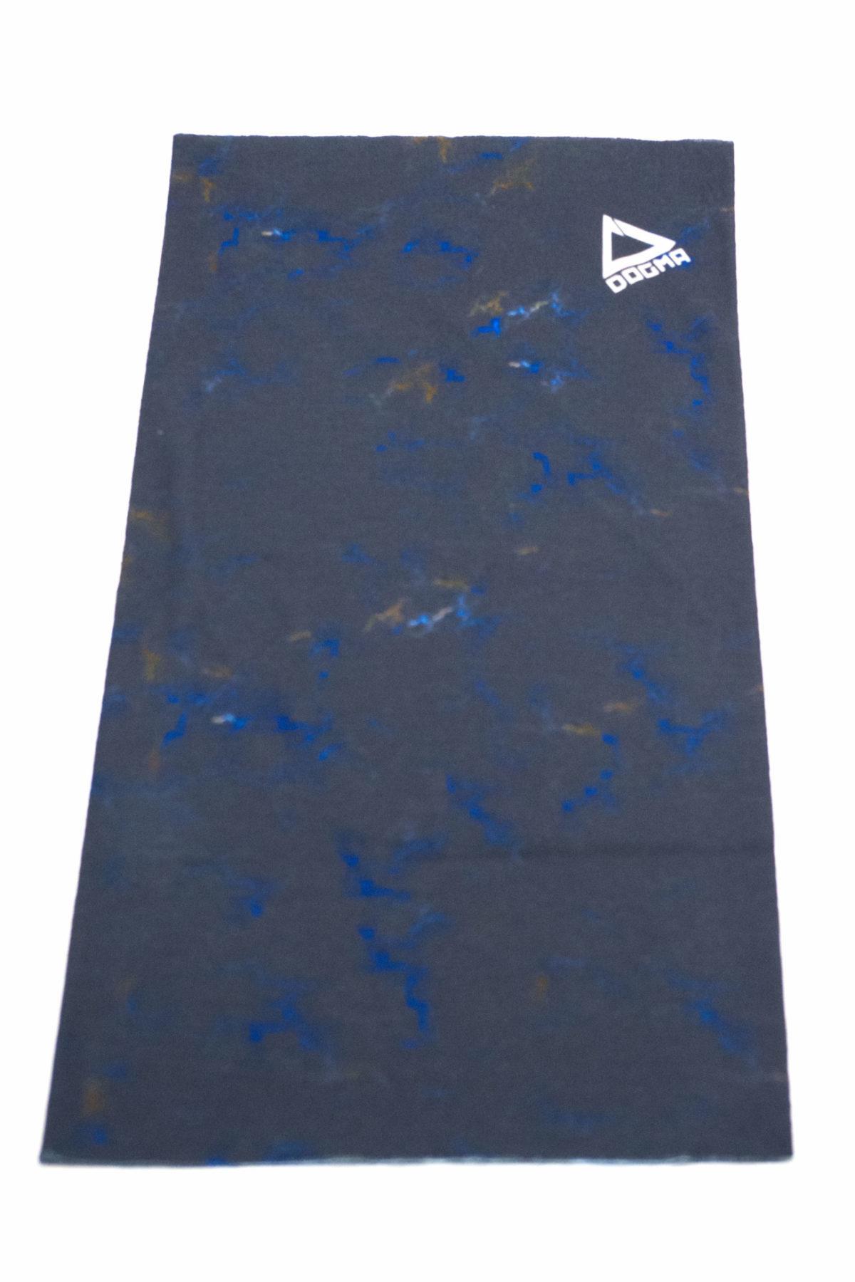 bandana in black marble print with dogma logo