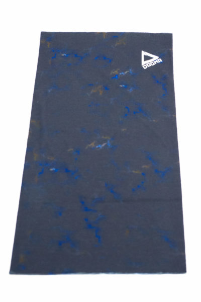 bandana in black marble print with dogma logo