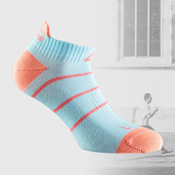 short runing socks in babyl blue color