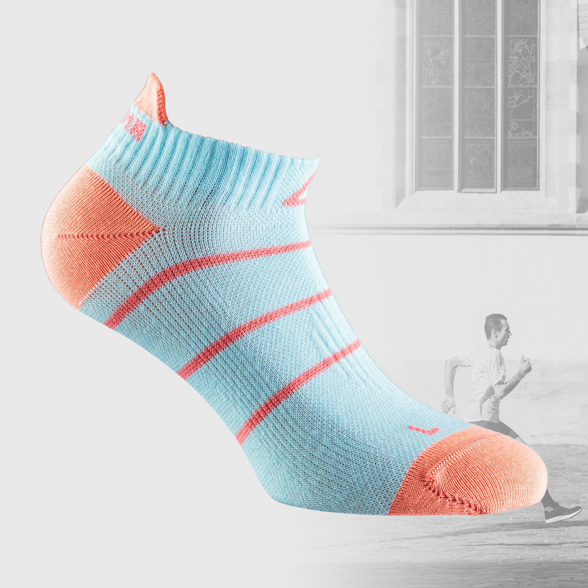 short runing socks in babyl blue color