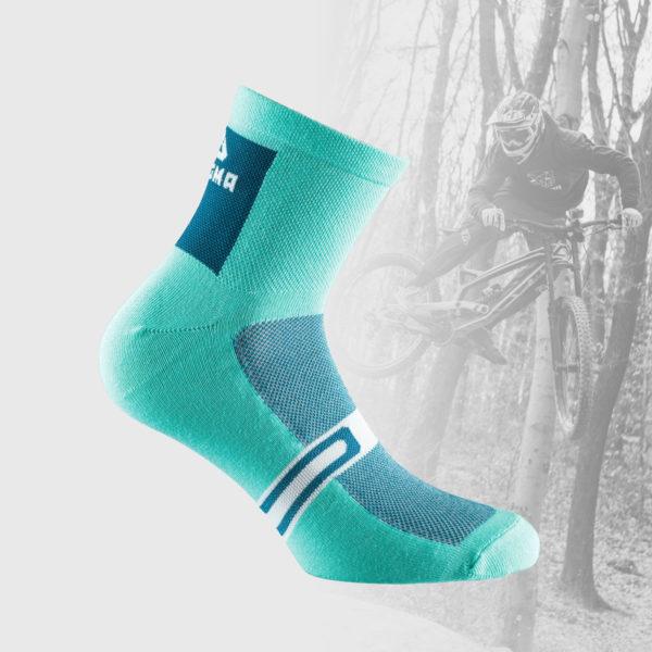 mint green cycling socks