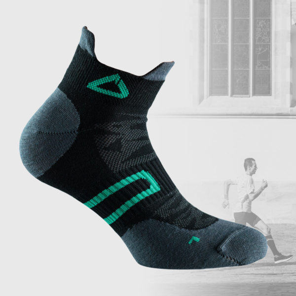 lightweight running socks with mesh inserts