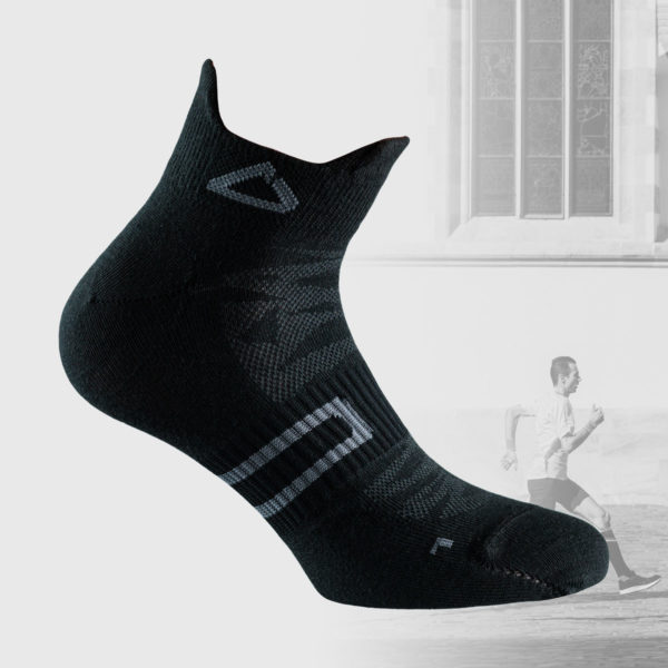 black ultralight running socks