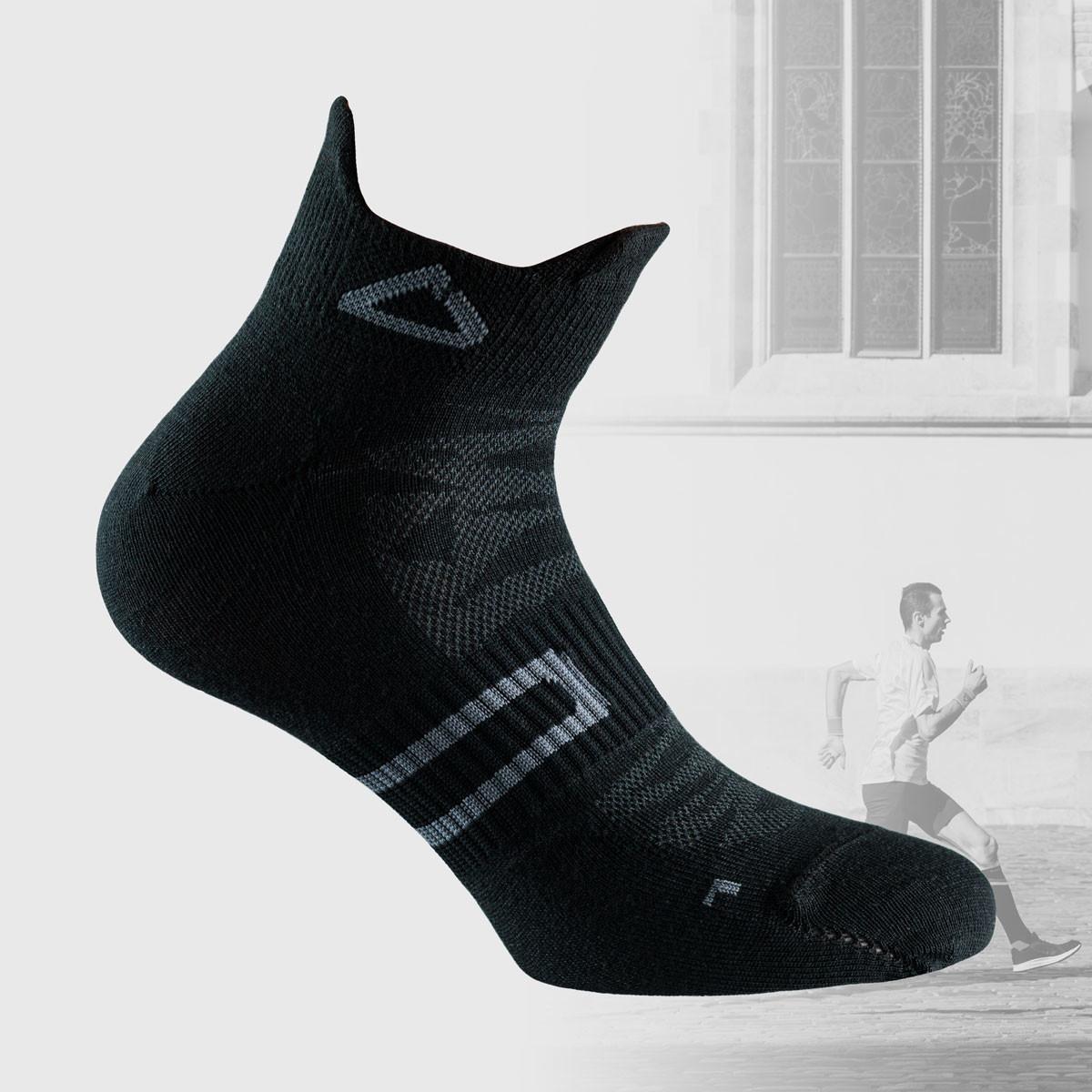 black ultralight running socks