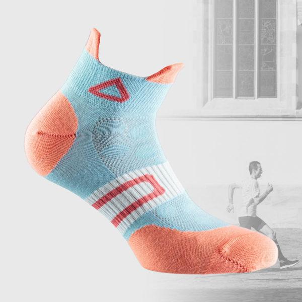 baby blue running socks