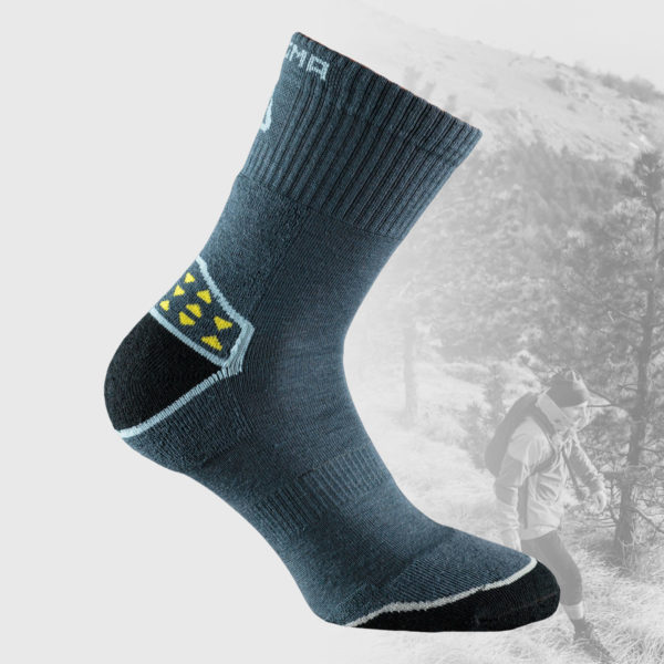 grey hiking socks