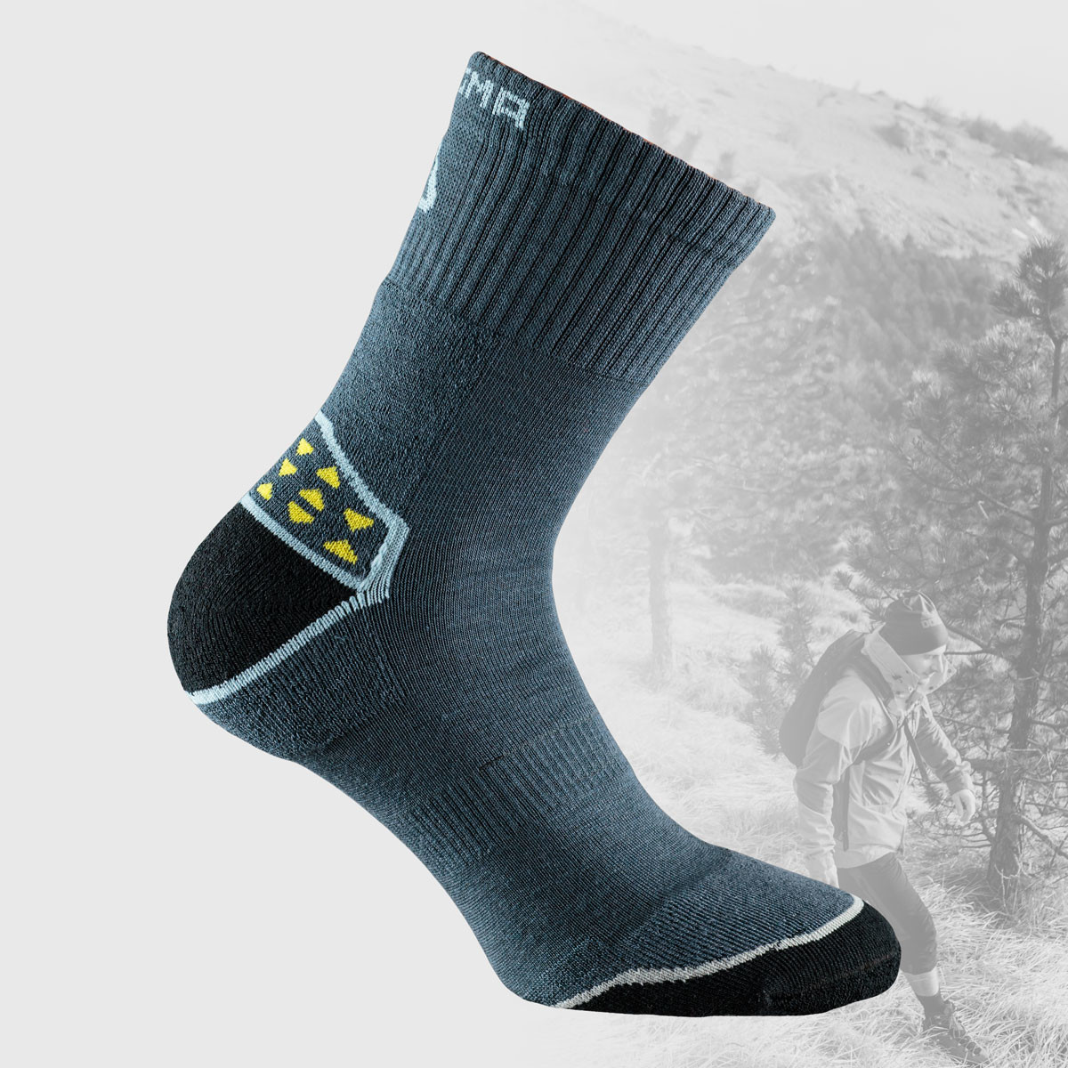 grey hiking socks