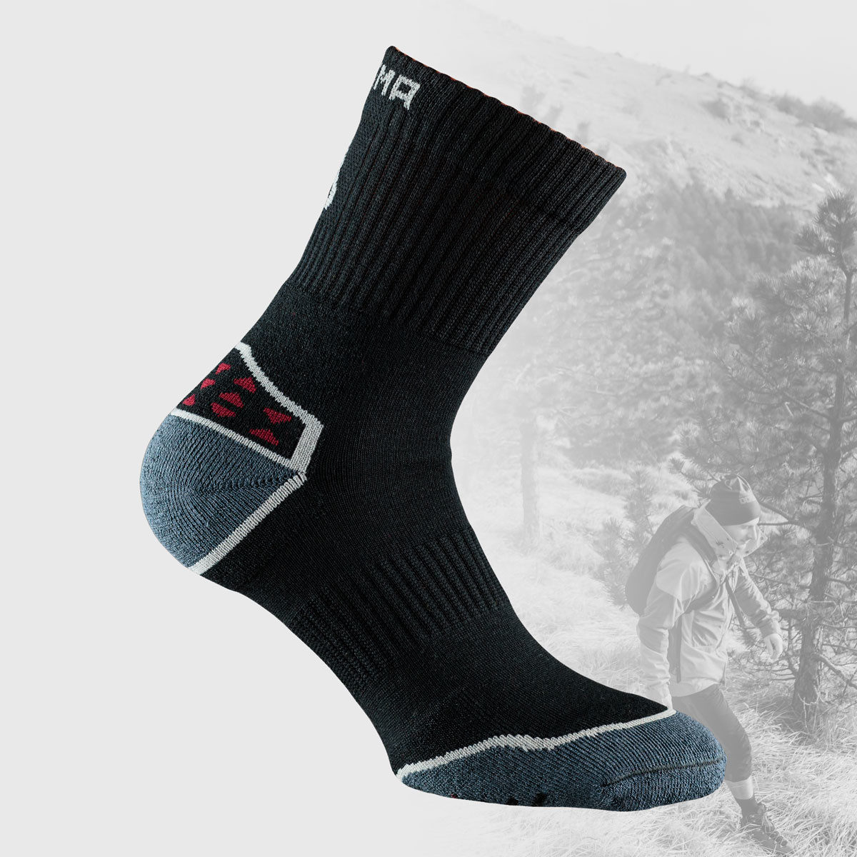 black hiking socks