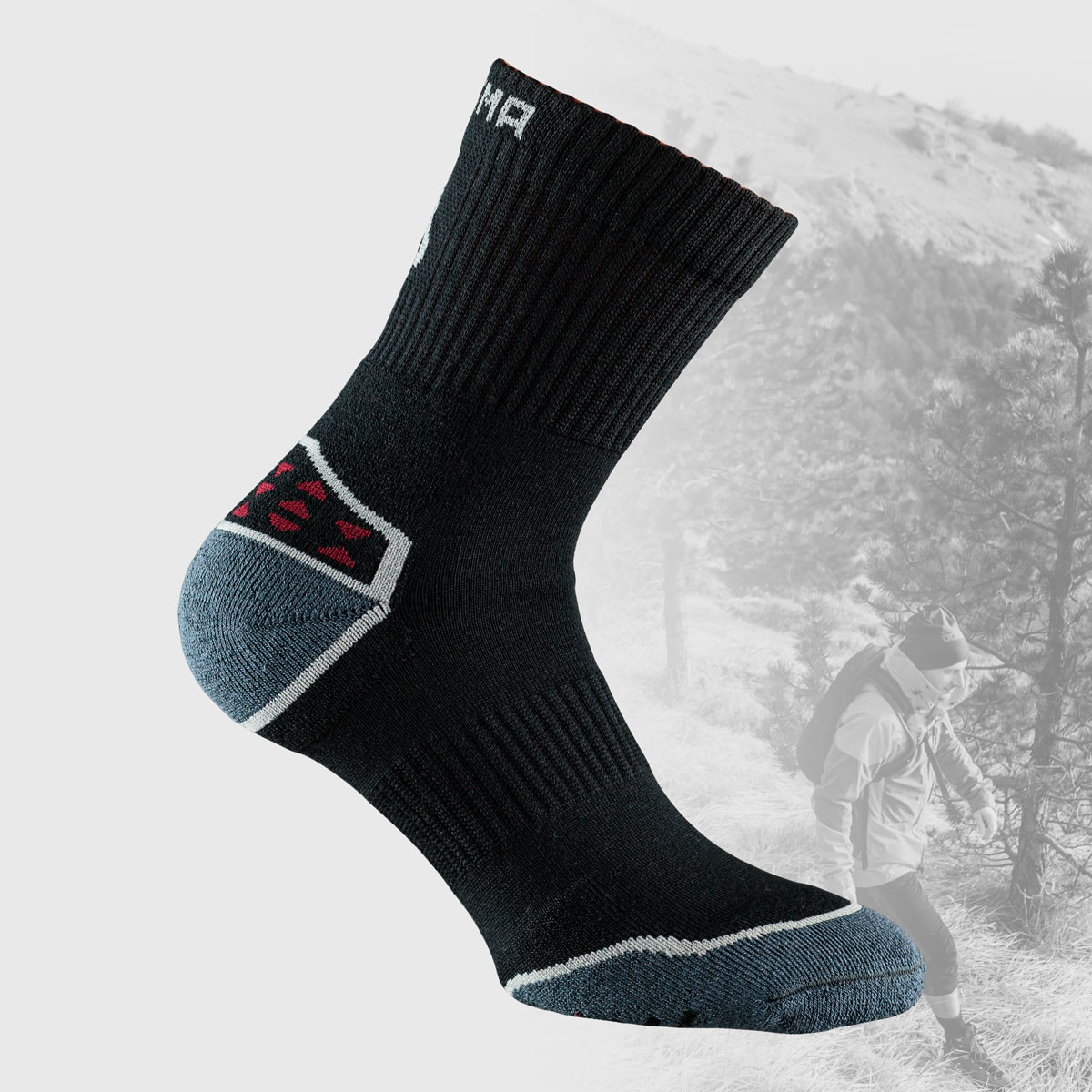 black hiking socks